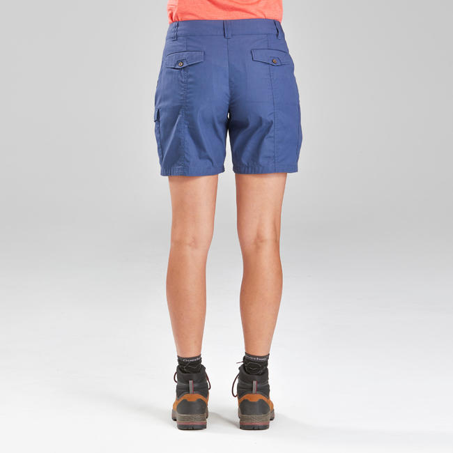 Women's Trekking Travel Shorts - TRAVEL 100 Blue