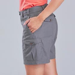 Short voor backpacken dames Travel 100 grijs