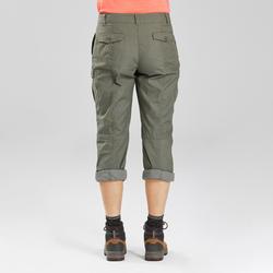 Women's Travel Trekking Trousers - TRAVEL 100 Khaki