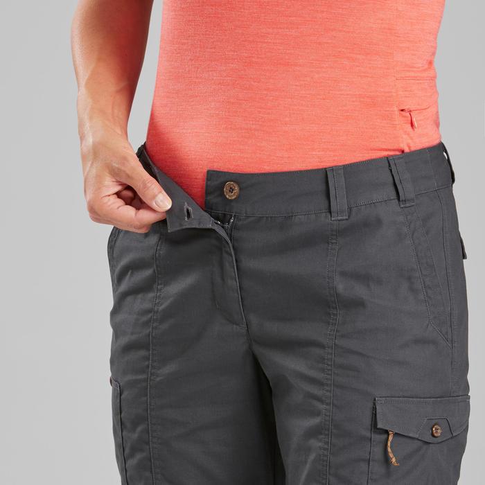 Women's Trekking Travel Trousers - TRAVEL 100 Grey