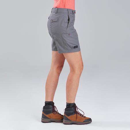 Travel 100 Trekking Shorts Grey - Women's