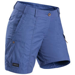 Short voor backpacken dames Travel 100 blauw