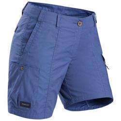 Women's Trekking Travel Shorts - TRAVEL 100 Blue