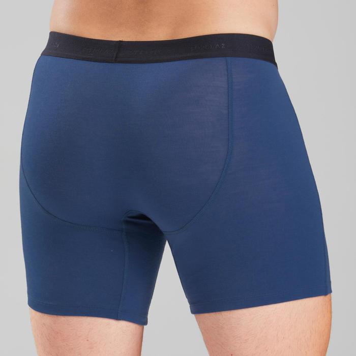 Sous vêtement boxer mérinos de trek montagne | TREK 500 bleu - homme