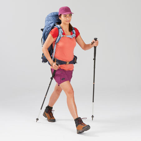 Women's Mountain Trekking Shorts - TREK 500 Purple