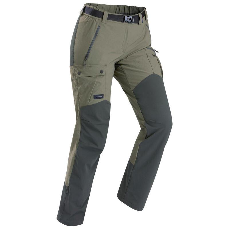 Pantalon de trek montagne   Trek 500 kaki femme