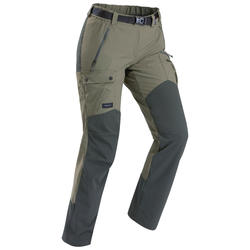 Women's mountain trekking trousers - TREK 500 - Khaki