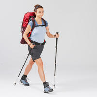 Pantalón transformable de trekking montaña - TREK 100 gris mujer