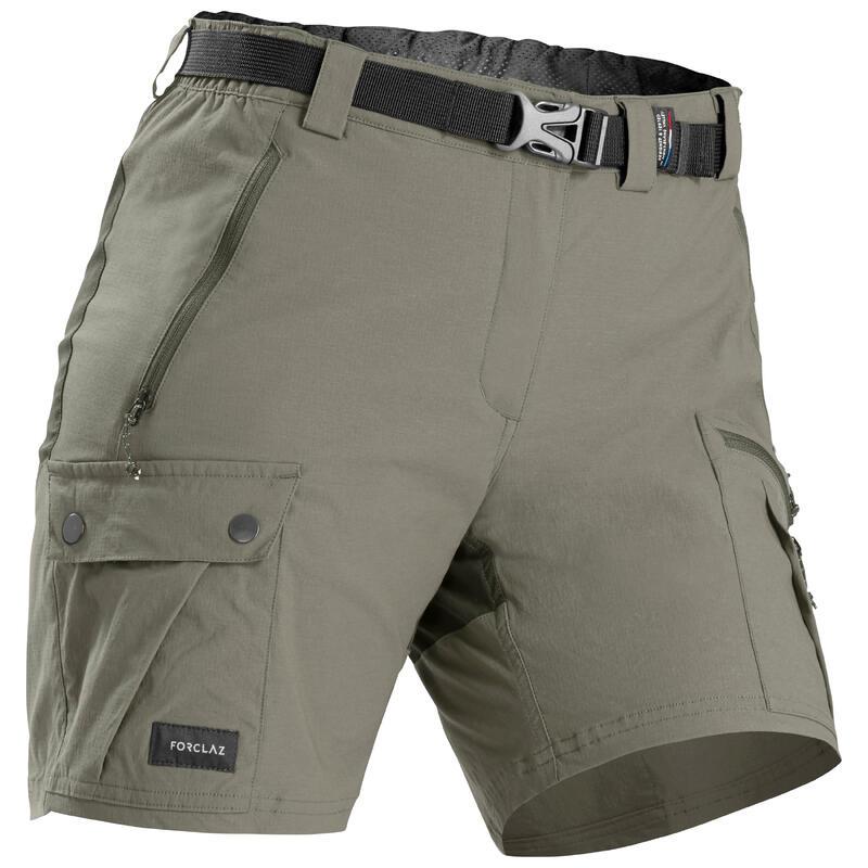 Women's Mountain Trekking Shorts - TREK 500 Khaki