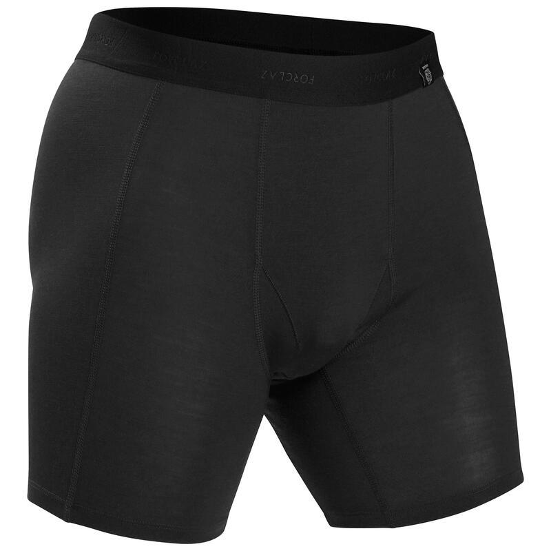 Sous vêtement boxer de trek montagne | TREK 500 MERINOS noir - homme