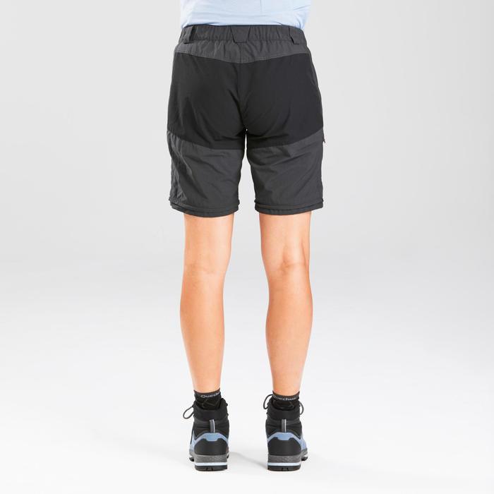 Pantalon modulable de trek montagne - Trek 100 Gris femme