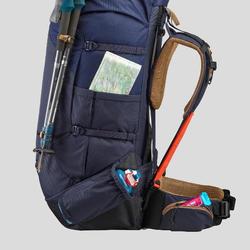 Rugzak voor bergtrekking heren Trek 100 Easyfit 90 l blauw