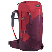 Women Trekking Backpack Trek 100 50 Litre Easyfit-Red
