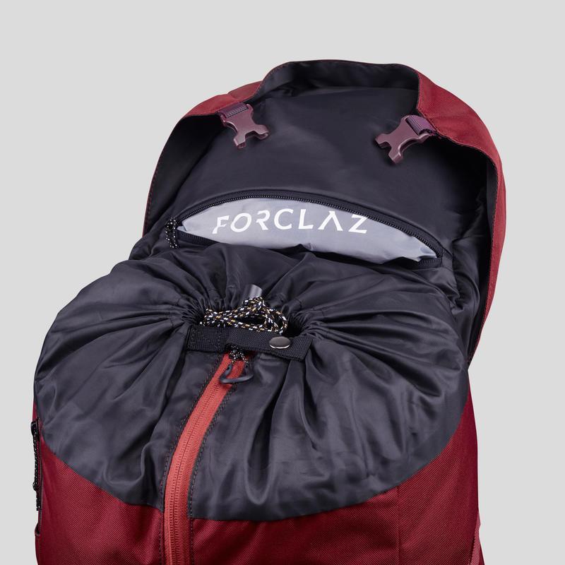 Mochila trekking en montaña mujer TREK 100 Easyfit 50L rojo