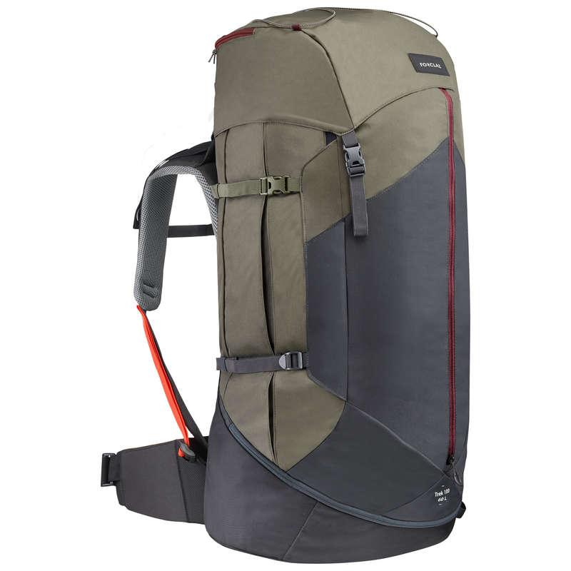 BACKPACKS 50L TO 90L MOUNTAIN TREK Trekking - W Backpack TREK100 60L - Khaki FORCLAZ - Trekking