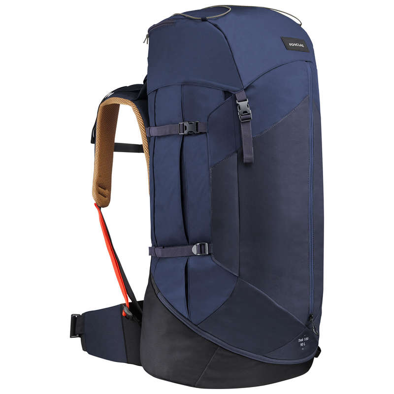 MOUNTAIN TREKKING BACKPACKS +50L TURISTIKA A TREKING - PÁNSKY BATOH TREK100 90 L FORCLAZ - BATOHY NA TURISTIKU
