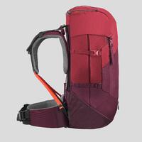 Women's Mountain Trekking Rucksack   TREK 100 EASYFIT 50L - red