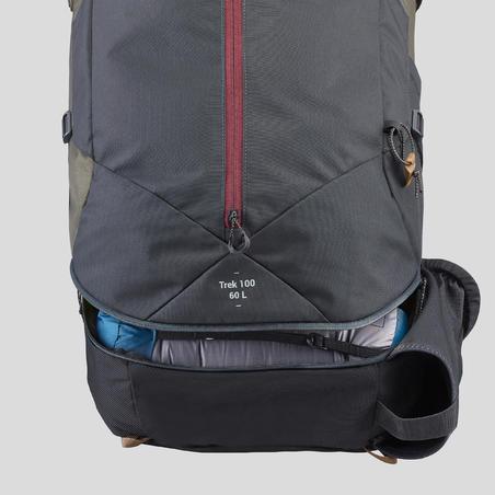 Trek 100 Trekking Backpack 60 L - Women