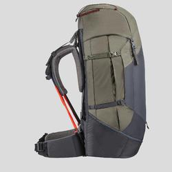 Sac à dos de trekking en montagne femme - TREK 100 Easyfit - 60L kaki