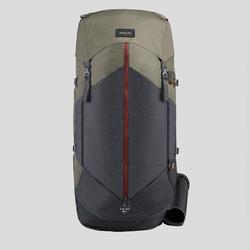 Mochila trekking en montaña mujer | TREK 100 Easyfit - 60L caqui