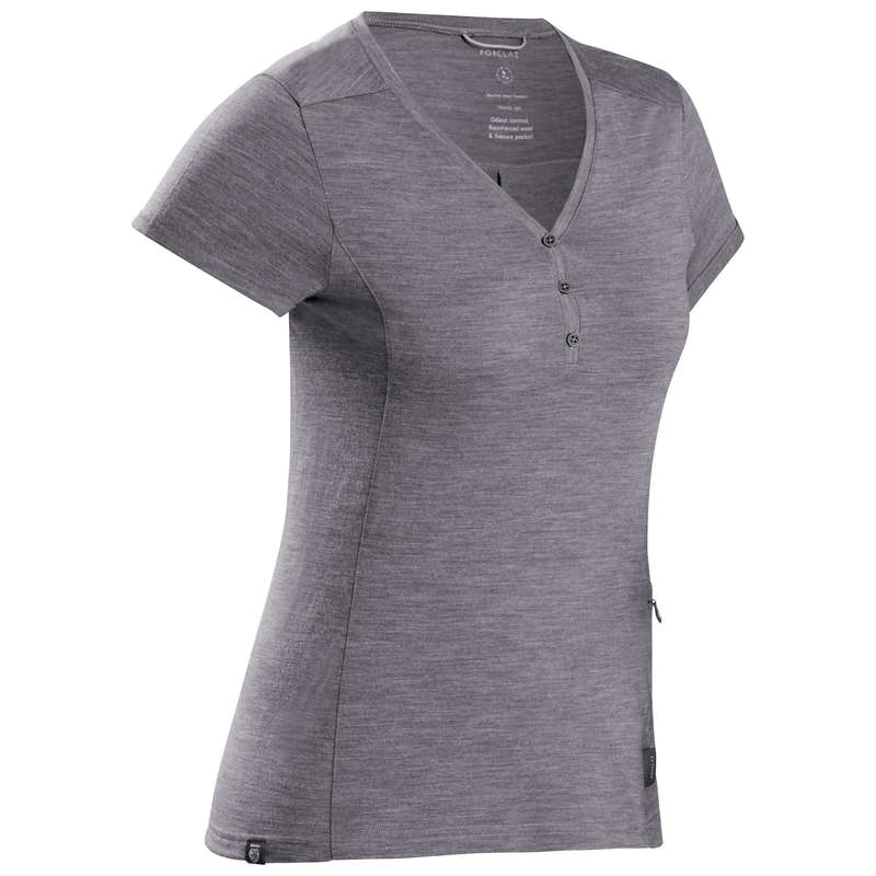 ABBIGLIAMENTO VIAGGIO DONNA Sport di Montagna - T-Shirt donna TRAVEL500 FORCLAZ - Trekking donna