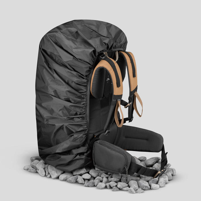 Funda Mochila Montaña Y Trekking Impermeable Reforzada 70 A 100 Litros Negro