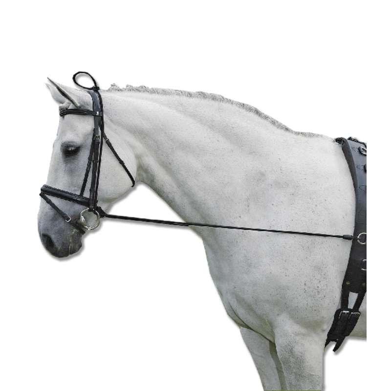РАБОТА НА КОРДЕ Верховая езда - Шамбон эластичный регулируемый FITNESS BOUTIQUE - Амуниция для лошади