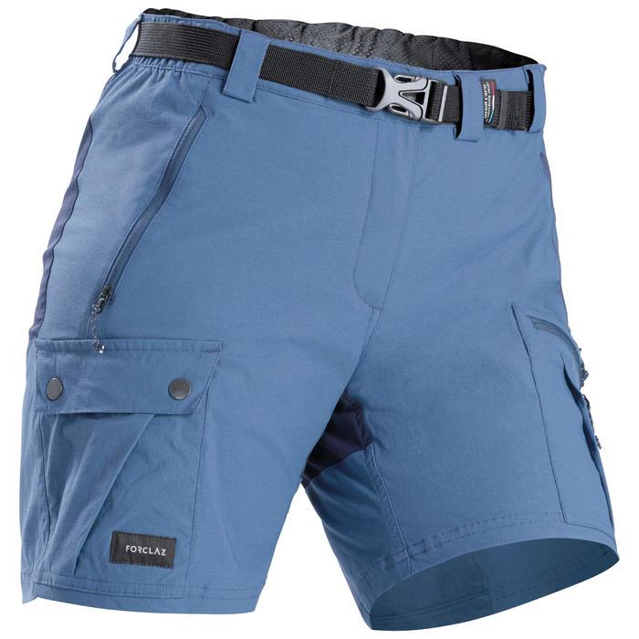 Women's Mountain Trekking Shorts TREK 500 - Blue