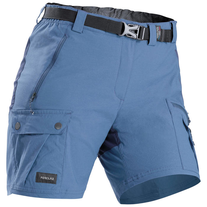 Women's Trekking Travel Shorts - TREK 500 Blue