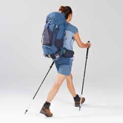 Short de trek montagne - TREK 500 bleu femme