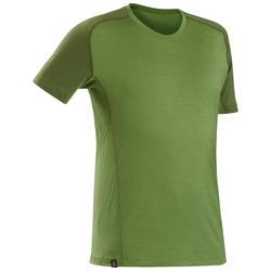 Merino Shirt Trek 500 kurzarm Herren grün