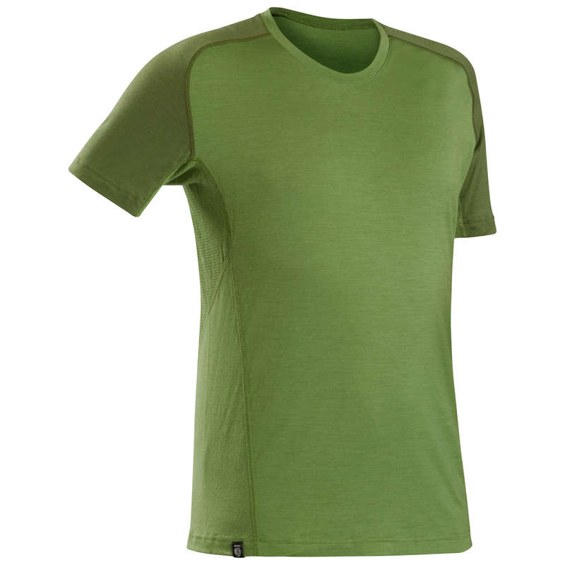 ABBIGLIAMENTO TREKKING UOMO Sport di Montagna - T-shirt uomo TREK500 MERINOS FORCLAZ - Trekking uomo