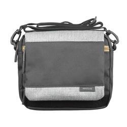 Handtas met veel zakken voor backpacken TRAVEL grijs