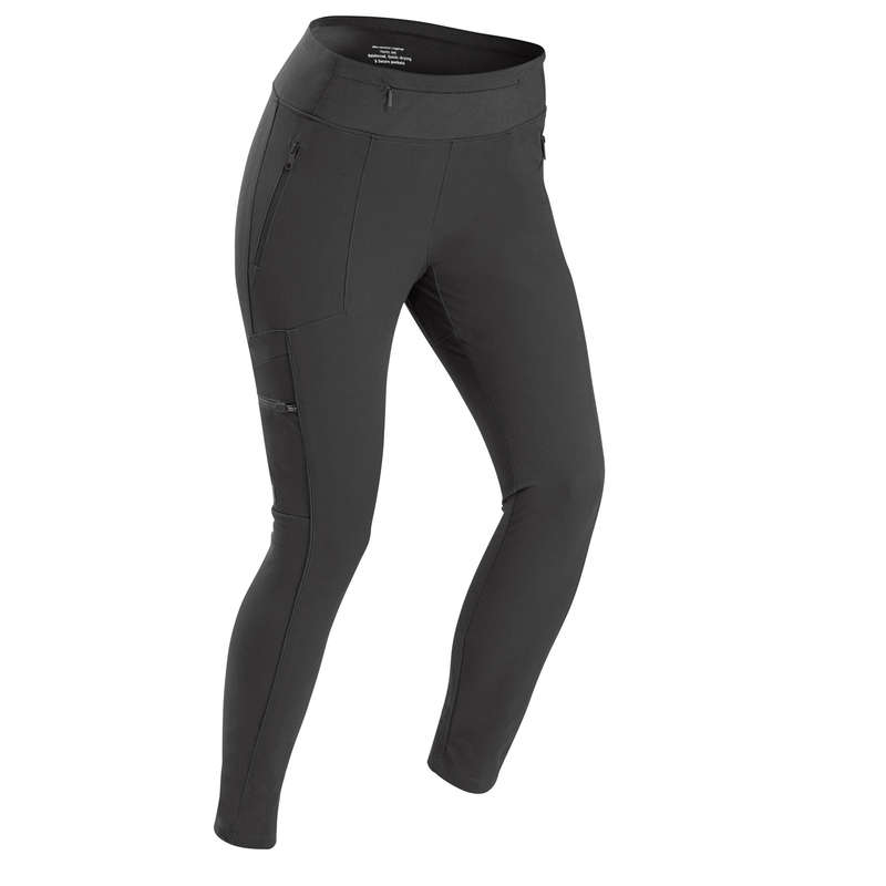 SET BACKPACKING Vandring - TIGHTS TRAVEL500 Dam SVART FORCLAZ - Vandringskläder