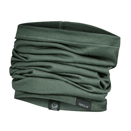 Bandana de Montaña y Trekking Trek 500 Wool Verde Lana Merina