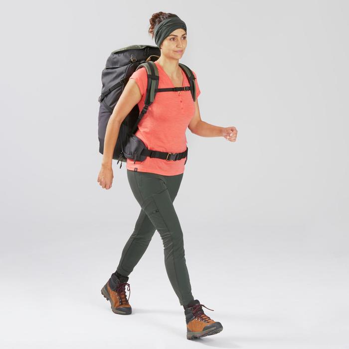 Legging de trek voyage renforcé & multipoches - TRAVEL 500 kaki femme