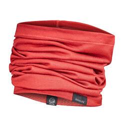 Gola de pescoço trekking montanha multi-posições -TREK 500 lã de merino vermelho