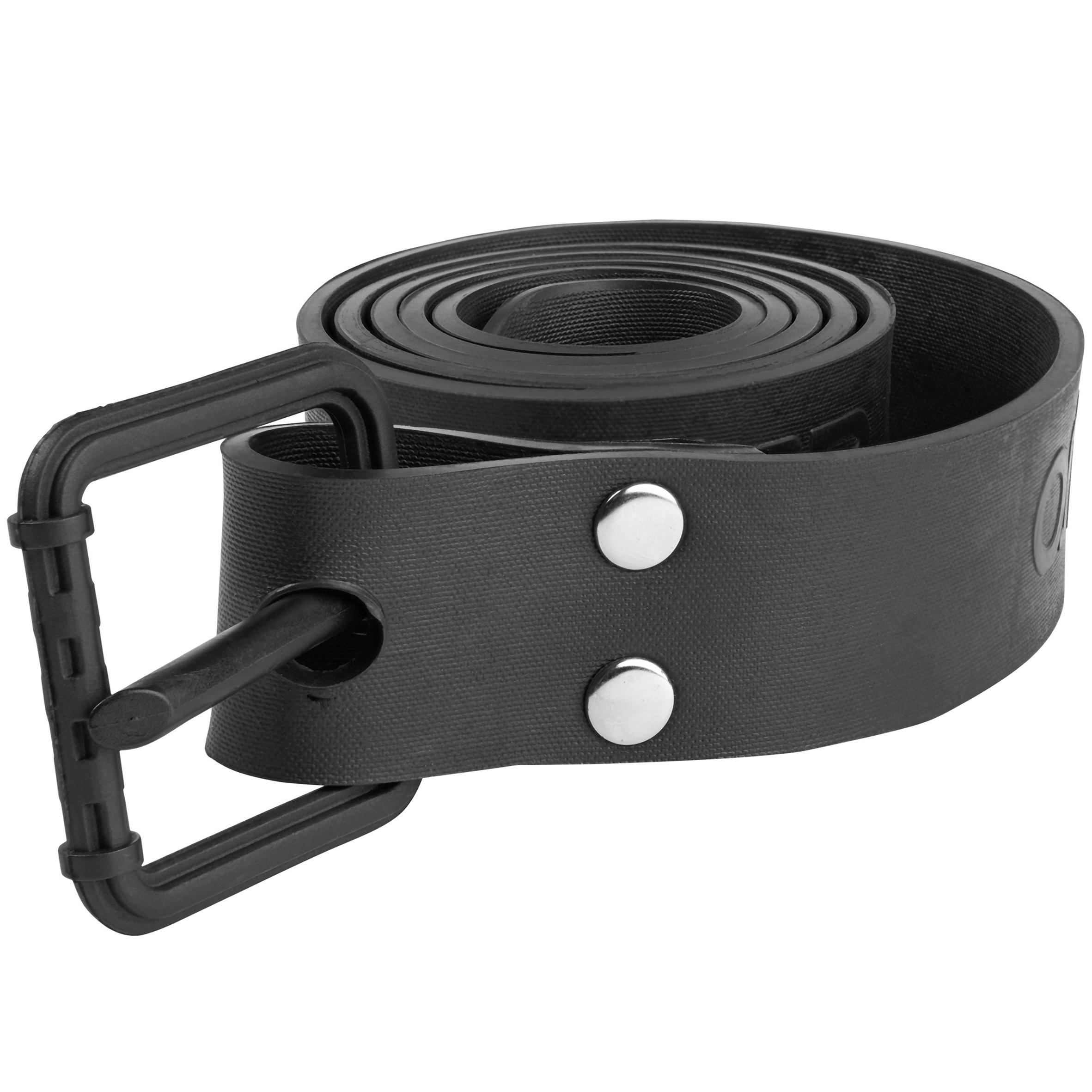 Black Omer Rubber Weight Belt w// Nylon Buckle
