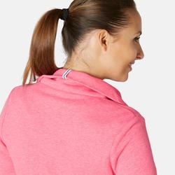 Veste zippée femme 500 Rose Chiné col montant
