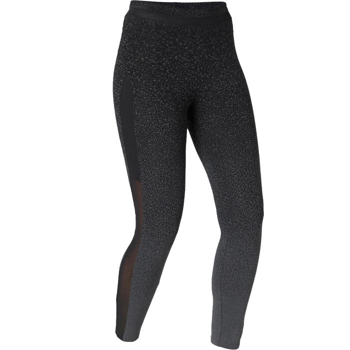 Legging voor pilates en lichte gym dames 520 slim fit 7/8 zwart