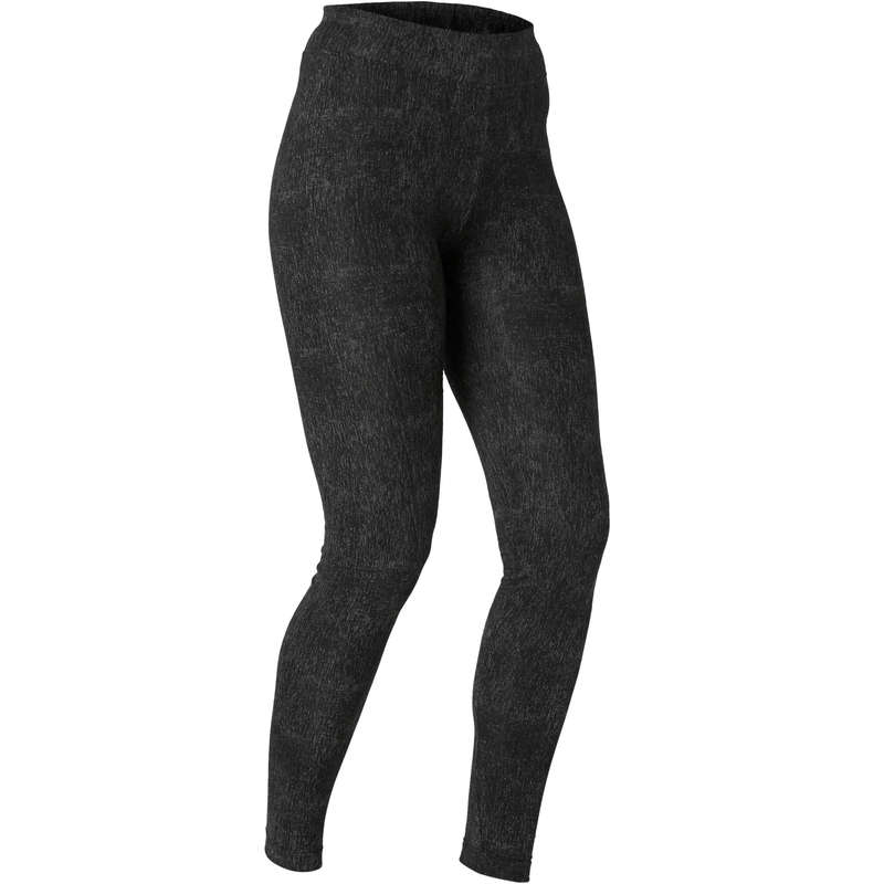 WOMAN T SHIRT LEGGING SHORT Fitness and Gym - Slim-Fit Gym Bottoms Fit+ 500 NYAMBA - Gym Activewear