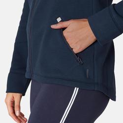Veste Zippée 500 Femme Bleu Marine