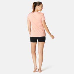 Short Sport Pilates Gym Douce Femme Fit+500 Slim Noir