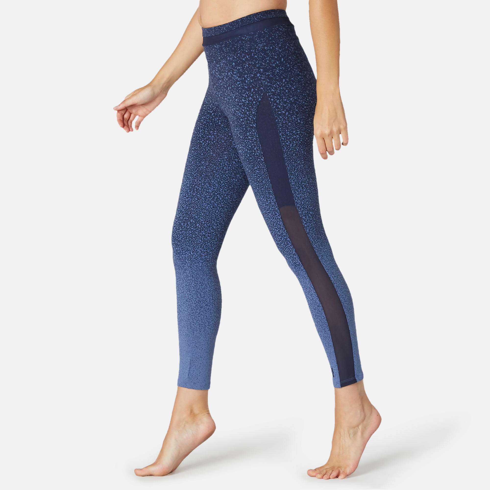 Legging sport taille haute Fit+ 520 femme en coton bleu ...