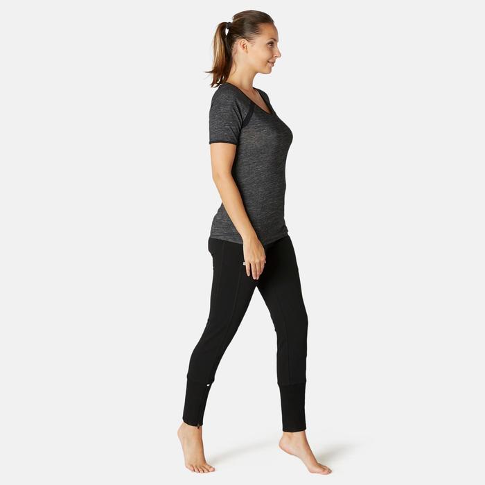 Trainingsbroek voor dames 560 met rits zwart