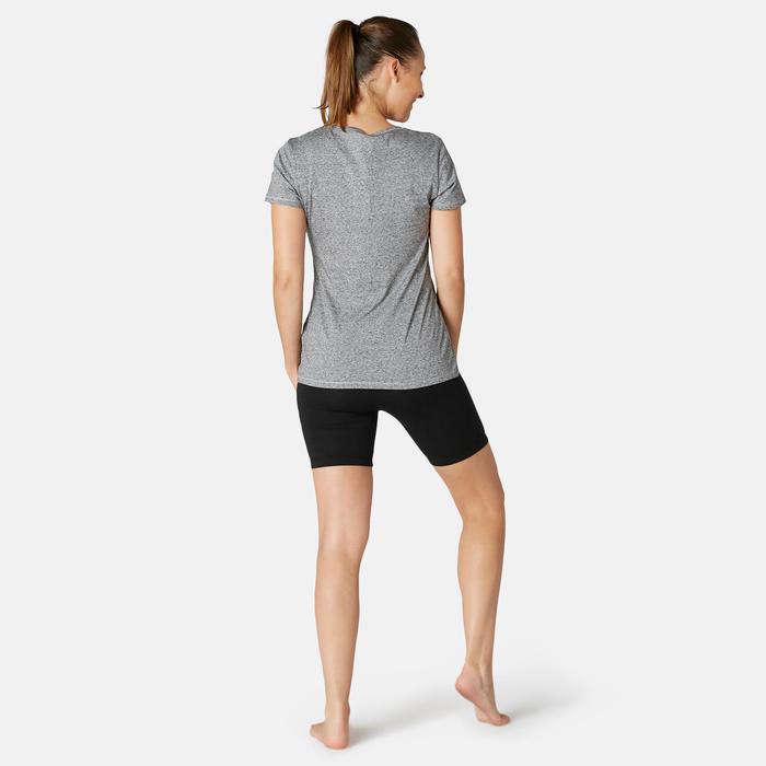 Cycliste Coton Fitness Fit+ Noir