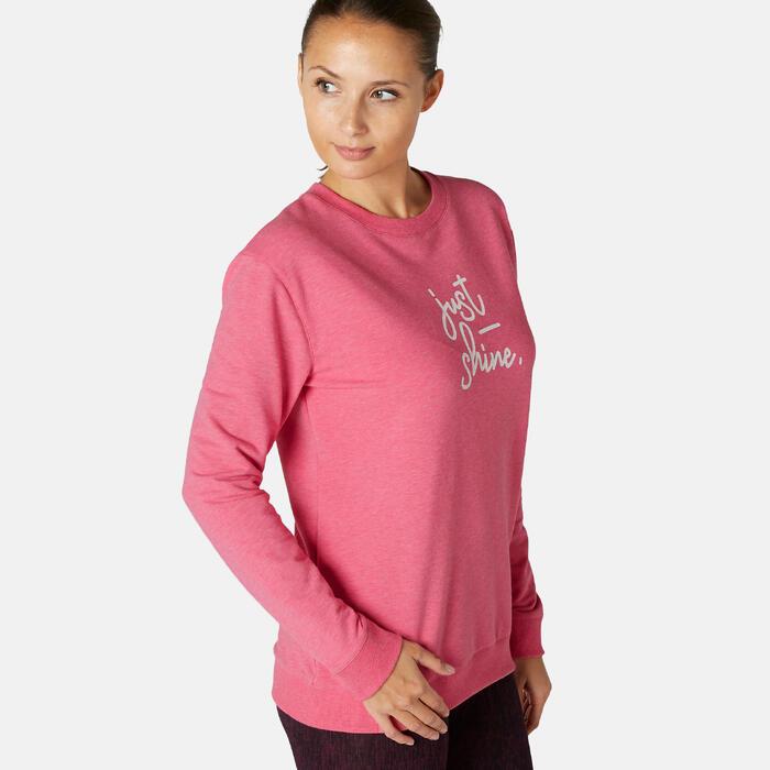 Sweat Training Femme 120 Rose Imprimé