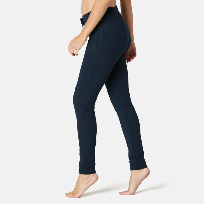 Pantalon 510 slim Pilates Gym douce femme bleu marine