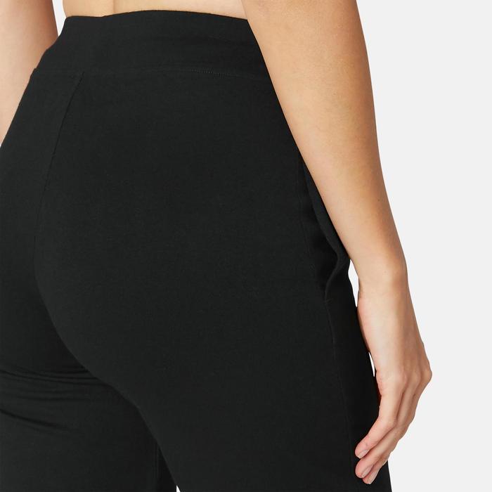 Gymshort Regular Fit+ 500 dames zwart