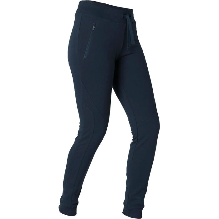 Jogginghose 510 Slim Gym & Pilates Damen marineblau